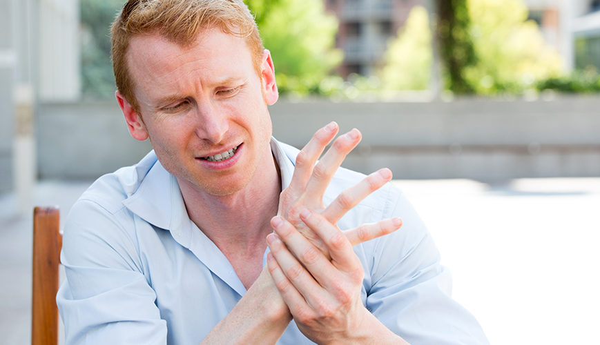 Man Living with Raynauds Disease