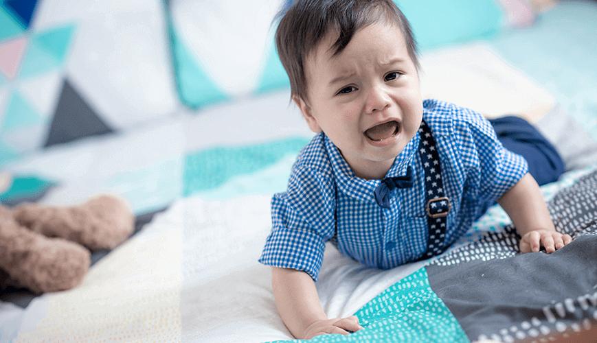 Sad Male Infant