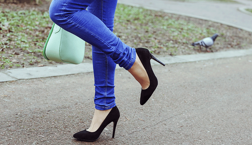 Woman in Heels and Skinny Jeans