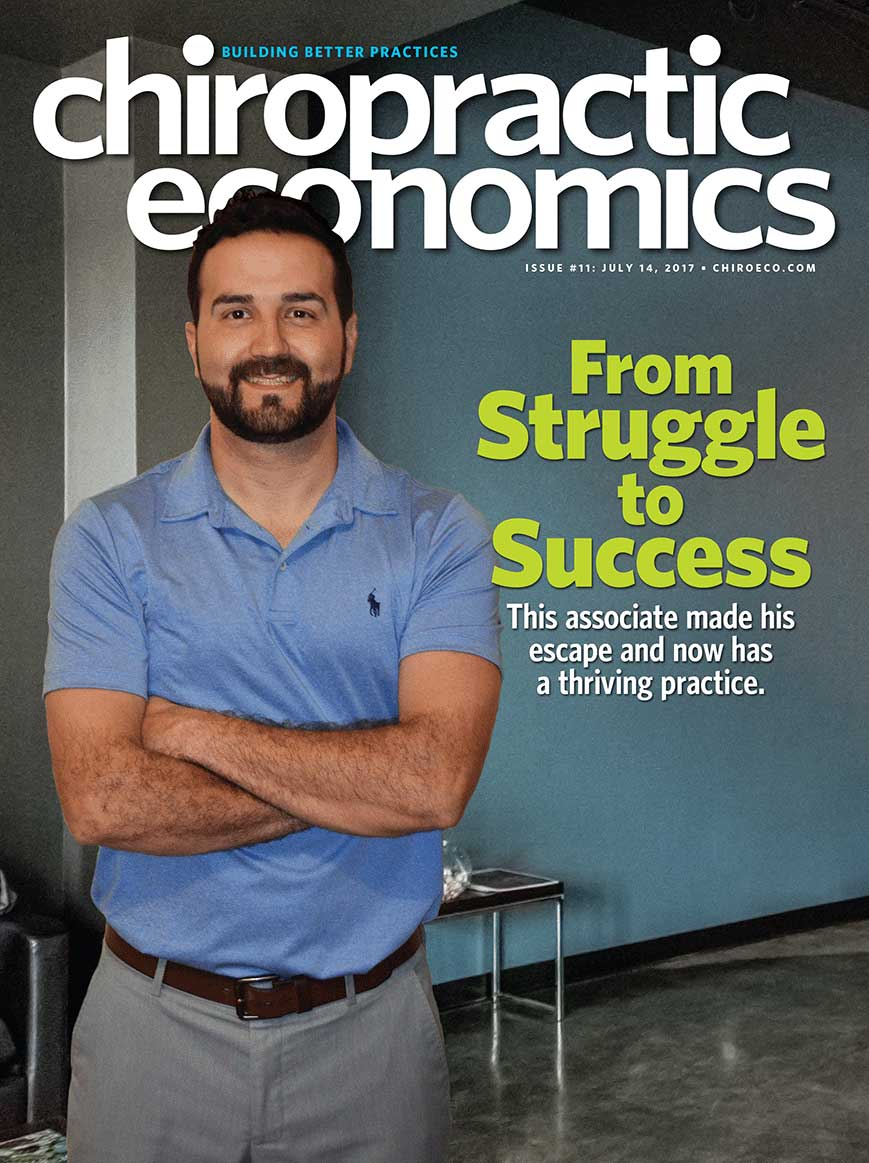 Chiropractic Economics Cover Story July 2017