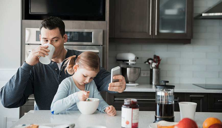 Father and Daughter Morning Routine and Breakfast
