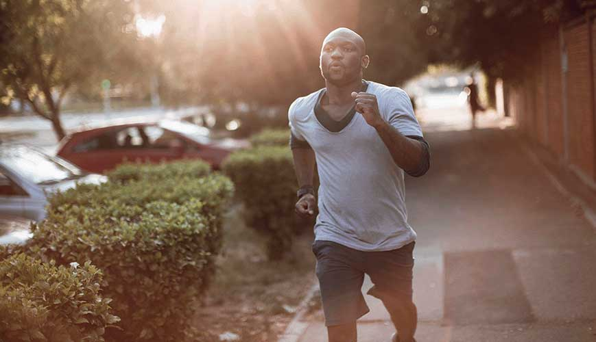 African American Male Running