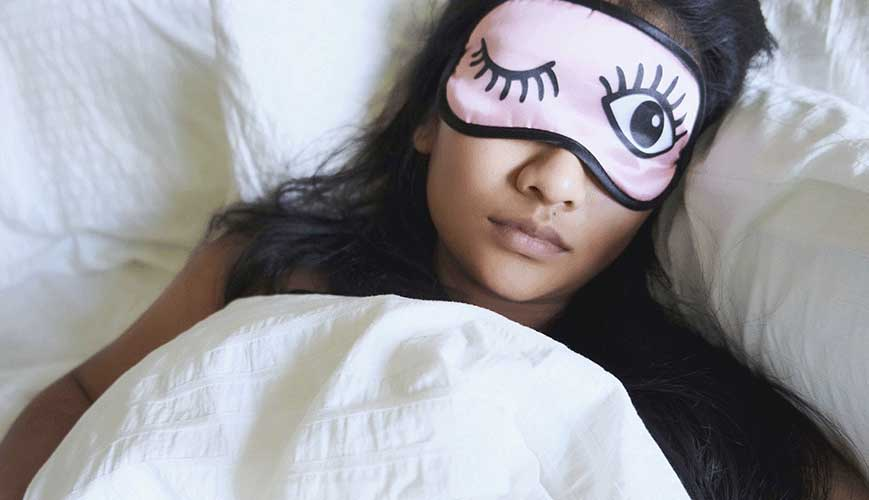 Woman Sleeping with Mask