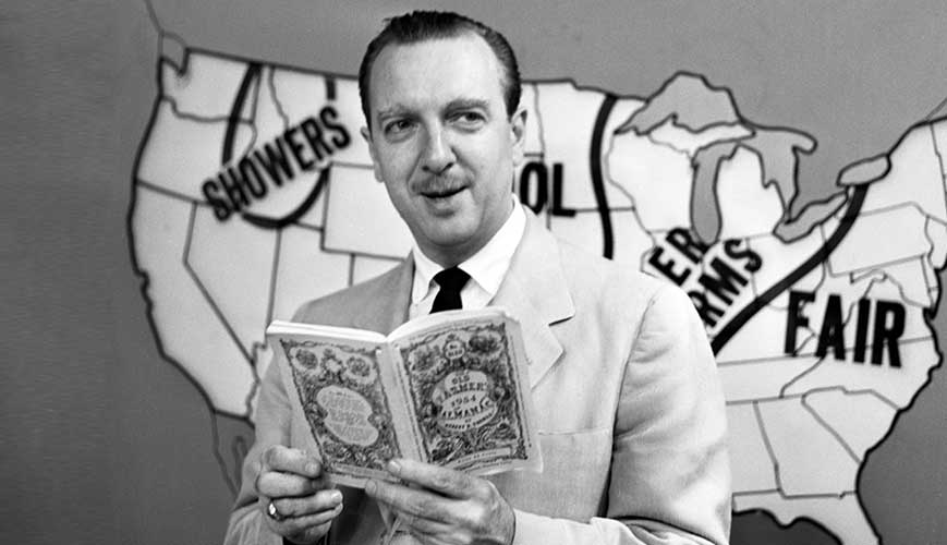 Walter Cronkite reading Old Farmers Almanac