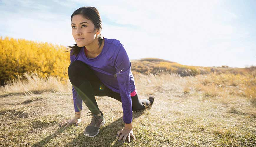 Healthy Lifestyle Woman Stretching